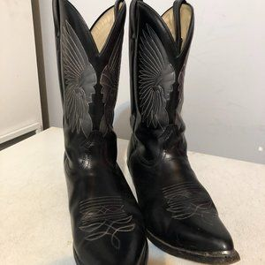 Boulet Leather Western Cowboy Boots Sz 10.5